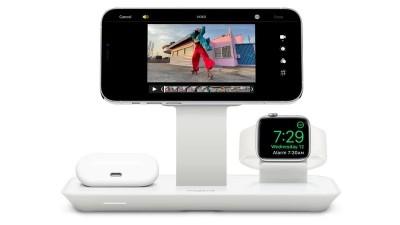 Mophie Debuts Đế sạc không dây 3 trong 1 hoạt động với bộ sạc MagSafe của Apple