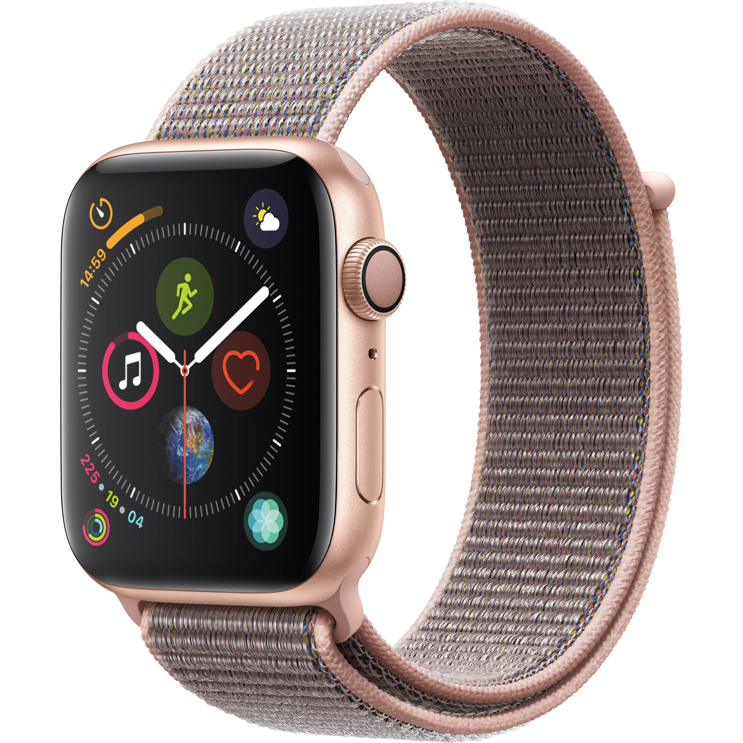 Apple Watch Series 4 Gold Aluminum Case with Pink Sand Sport Loop (GPS) 40mm Band fits 130–200mm wrists