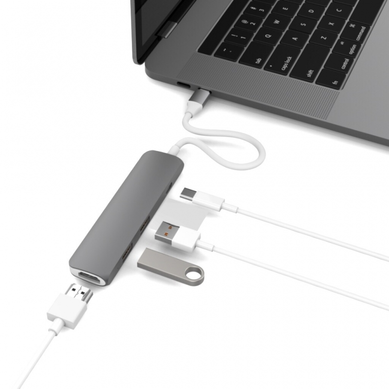 HyperDrive USB-C Hub with 4K HDMI Support (for 2016/2017 MacBook Pro & 12 Inch MacBook)