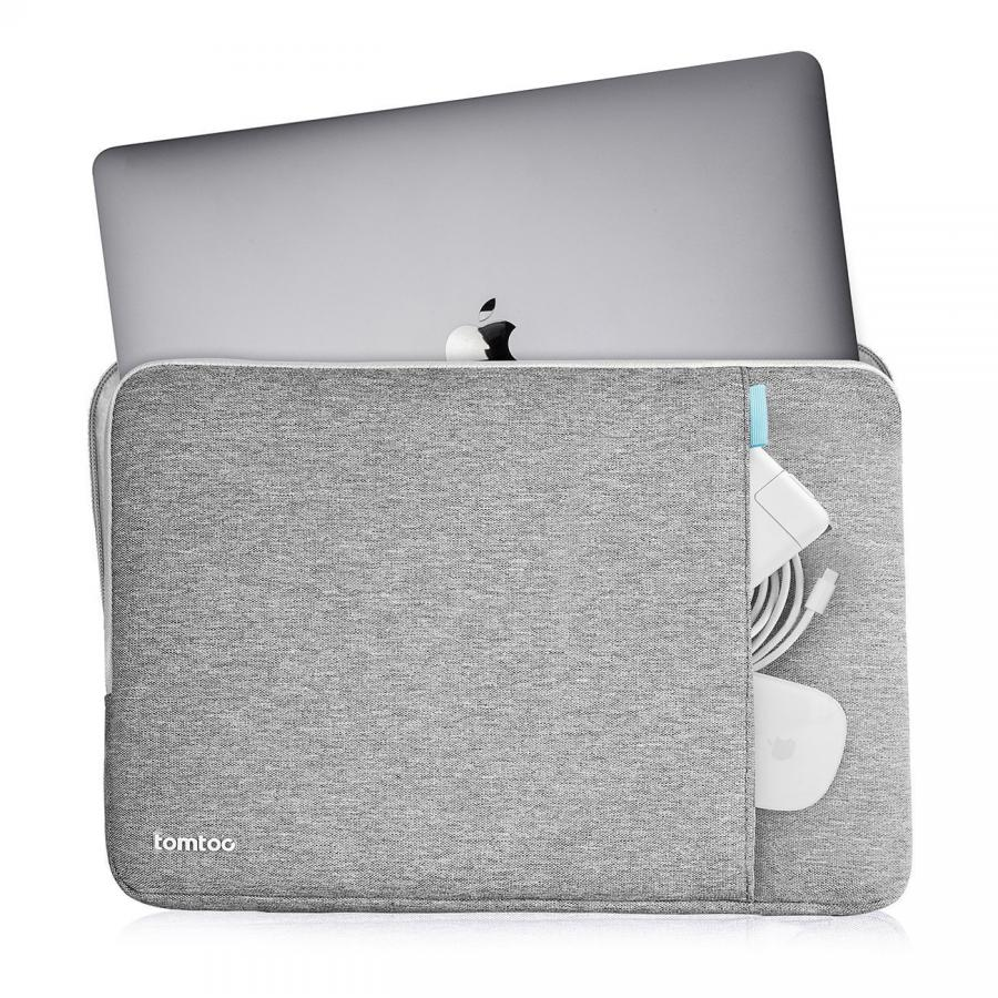 TÚI CHỐNG SỐC TOMTOC (USA) 360° PROTECTIVE MACBOOK PRO 13 Inch NEW GRAY