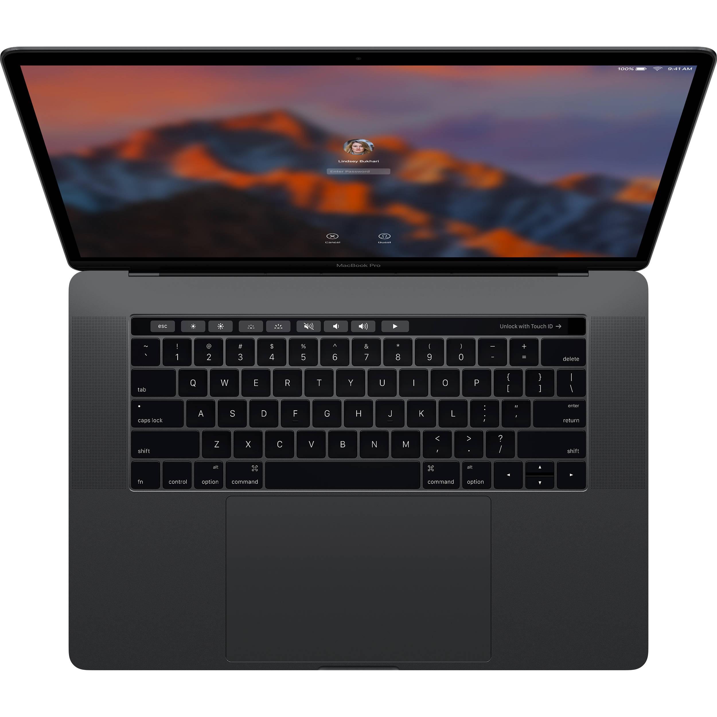 MPTT2- Macbook Pro 15 inch 2017/ I7/ 16GB/ 512GB/ TouchBar/ Pro 560 4GB/ New 99%