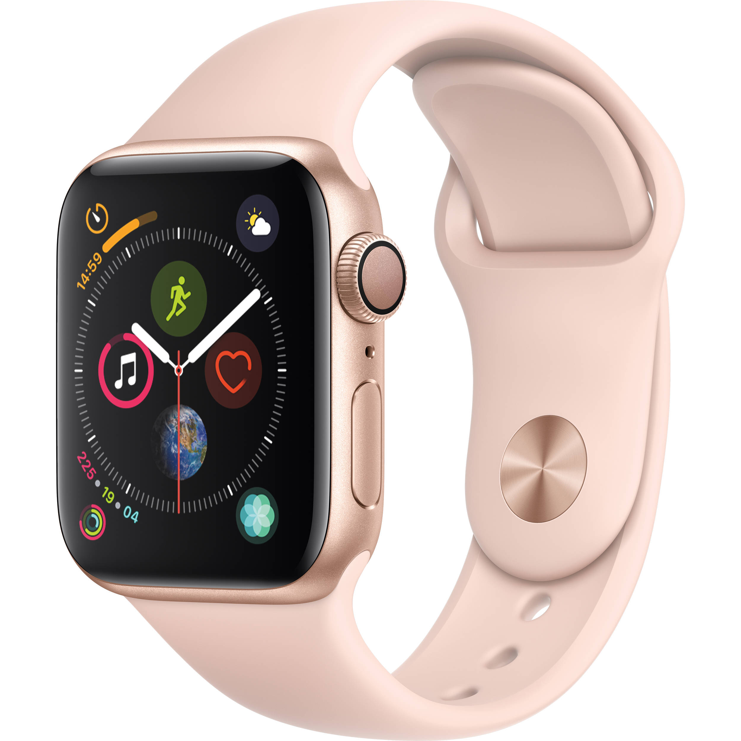 Apple Watch Series 4 Gold Aluminum Case with Pink Sand Sport Band (GPS ) 40mm Band fits 130–200mm wrists